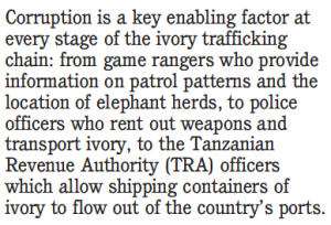 Environmental Investigation Agency quote on Tanzanian poaching corruption
